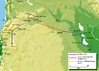 Khalid ibn Walid's invasion route of Syria 634