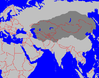 Genghis khan empire at his death 1227