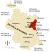 Cities of the province of Valencia 2005
