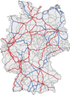 Railway network of Germany 2010