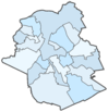 Blank map of the Brussels-Capital Region