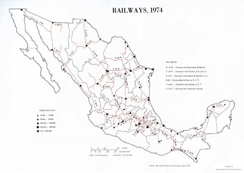 Railways of Mexico 1974