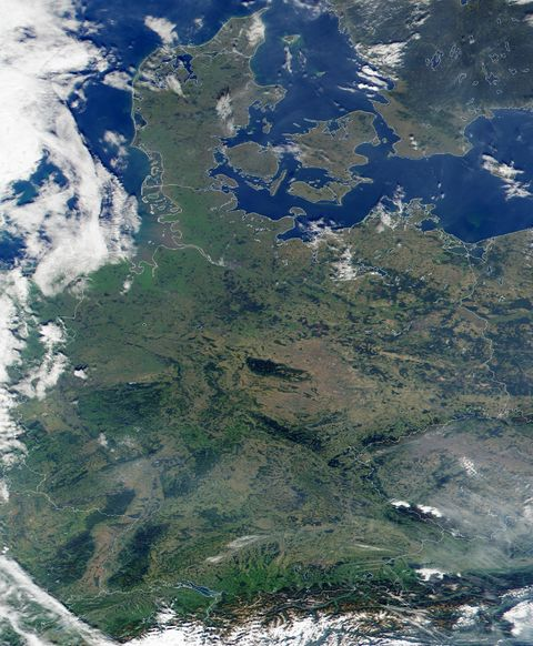 Germany Satellite Map 2006