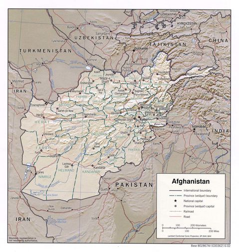 topographic maps of afghanistan. physical maps of afghanistan.
