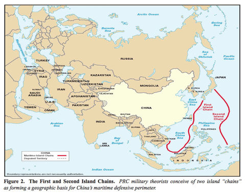 China's Maritime Defensive Perimeter 2007