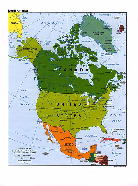 physical map of central america and caribbean. America, political map of