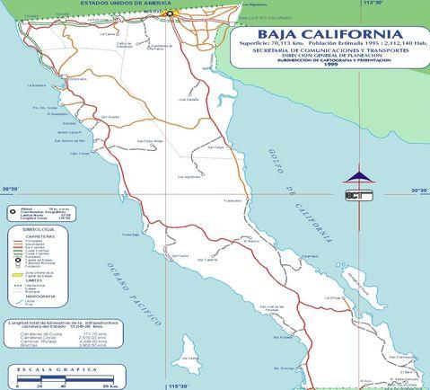 Baja California map