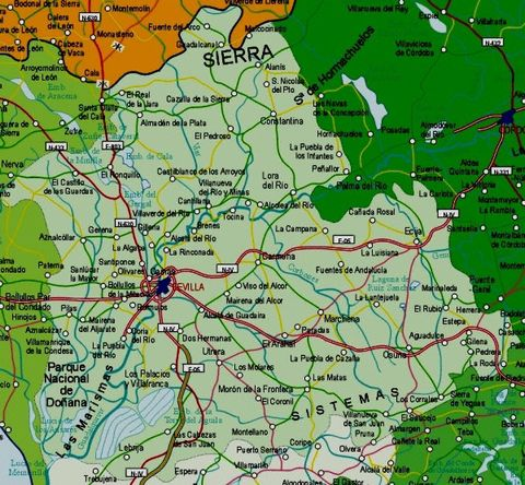 Mapa carreteras huelva provincia