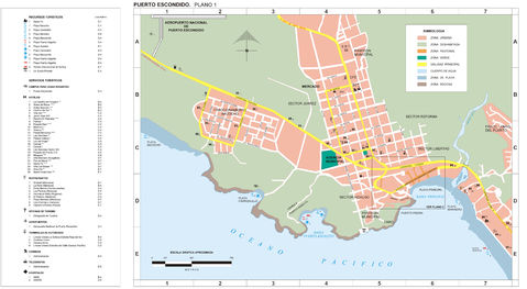 Map of Puerto Escondido