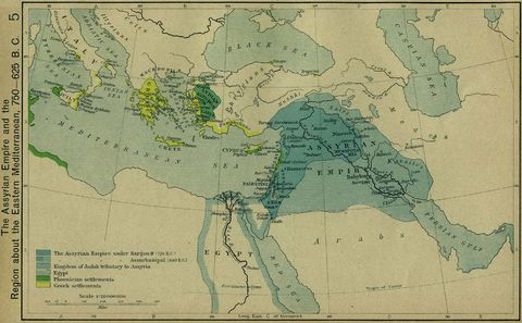 The Assyrian Empire 750-625 B.C.
