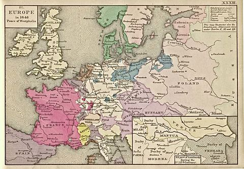 Peace of Westphalia, Europe in 1648
