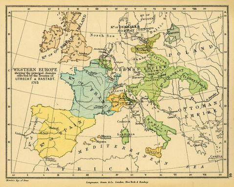 Resultado de imagen de mapa europa siglo XVII