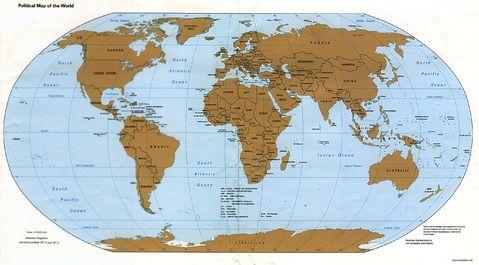 world map political map. World political map 1995