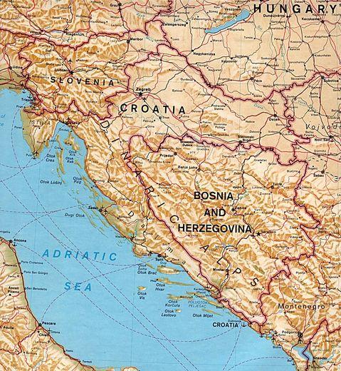 Mapa F 237 Sico De Eslovenia Croacia Bosnia Y Herzegovina