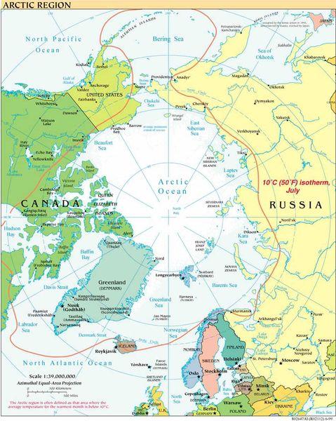 political maps of denmark. Arctic political map 1999.
