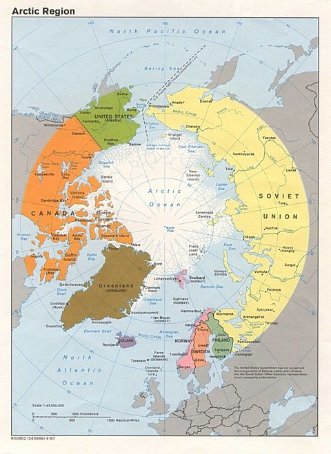 political maps of denmark. Arctic political map 1987.