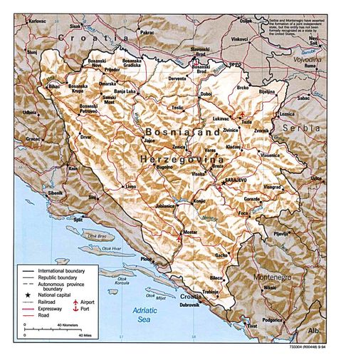maps of bosnia and herzegovina. Bosnia and Herzegovina
