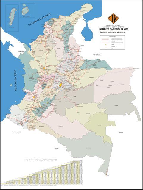 instituto nacional de vias de colombia: