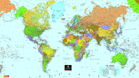 political map of the world outline. World political map
