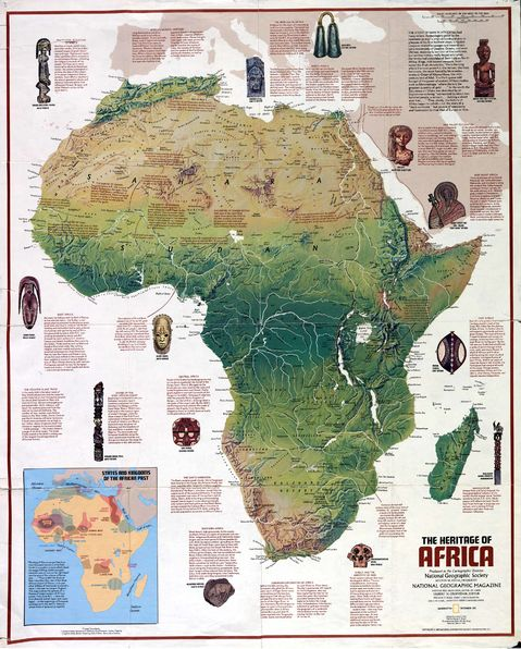 Physical Features Africa Map Africa Physical Map