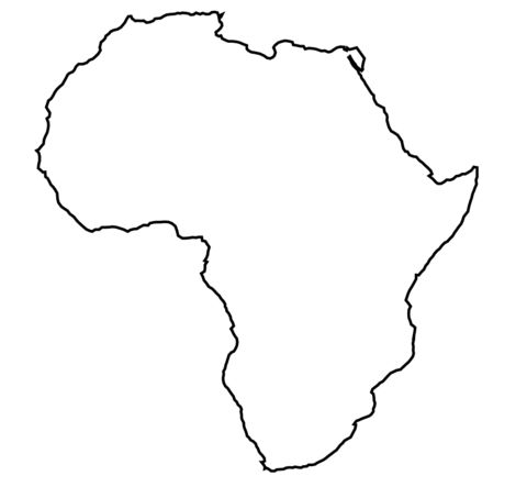 Africa outline map. Source: