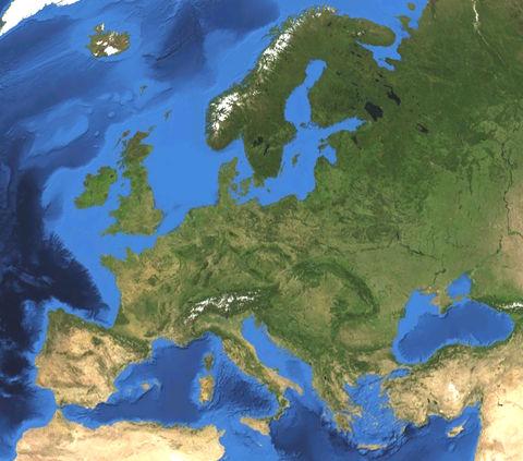 mapa de europa para colorear. mapa de europa para colorear.