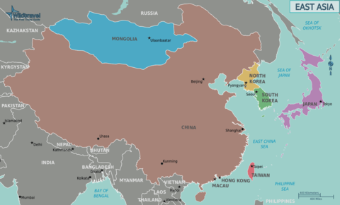 east asia map political. Eastern Asia Political Map