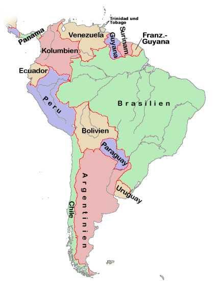 Mapa de sur america - Imagui
