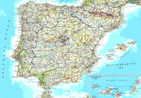 map of portugal cities. map of spain and portugal with