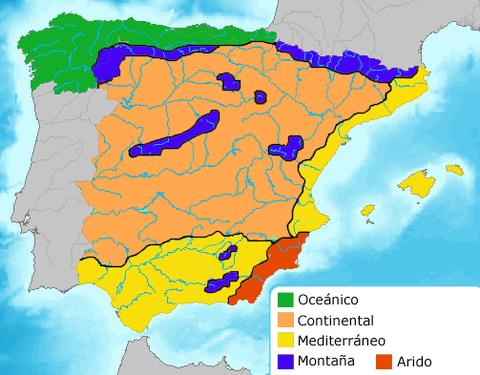 Mapa Tematico De Espana.Ciencias Sociales Mapas Tematicos