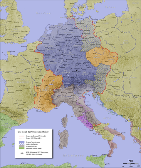 The Holy Roman Empire around 1000
