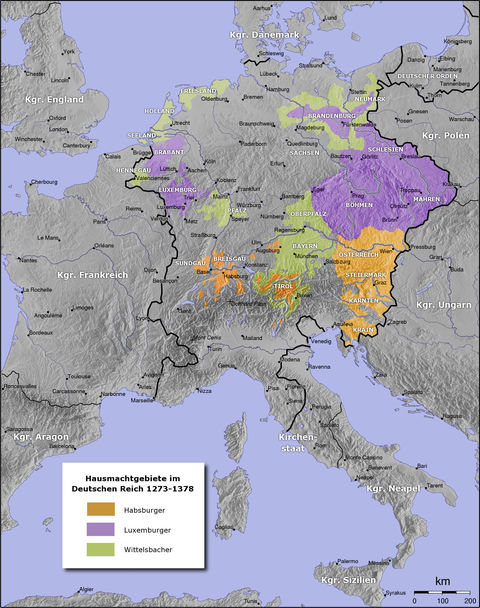 Holy Roman Empire from 1273–1378