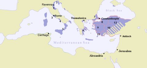 Byzantine Empire in 717