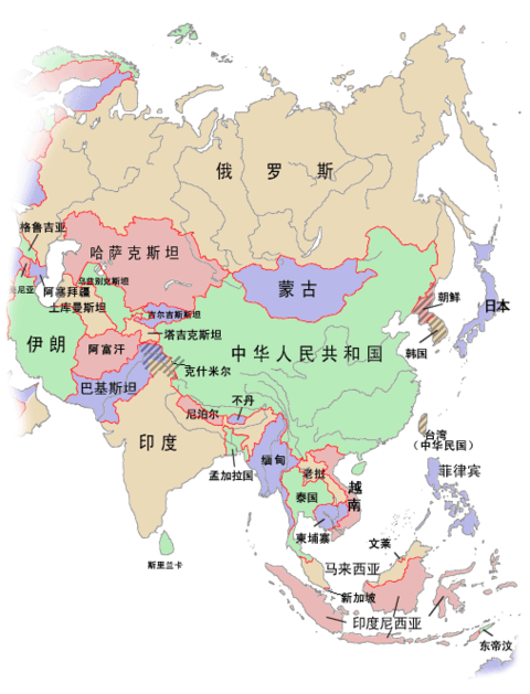 east asia map political. southeast asia political map