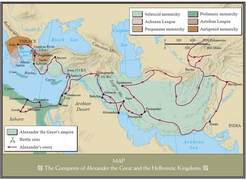 Conquests of Alexander the Great and the Hellenistic Kingdoms 334-323 BC