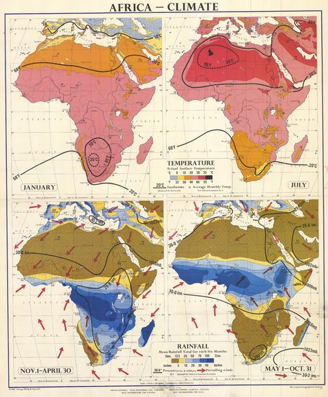 Africa climate, temperature and rainfall 1965