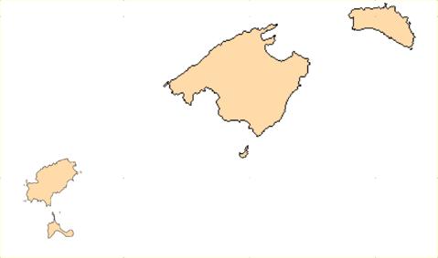 Mapa mudo de las islas baleares - Baleares y canarias ...