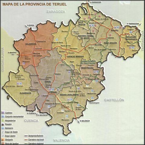 Provincias Barcelona Mapa Mapa Turístico de la Provincia
