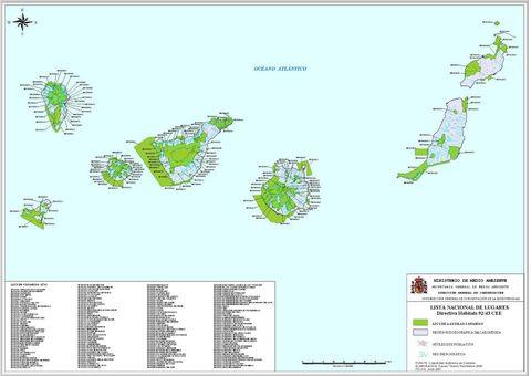 Tamaño Islas Canarias en Las Islas Canarias 2001