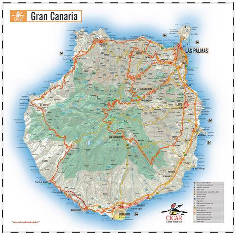 Mapa de carreteras de la isla gran canaria las palmas de gran canaria - Isla de las palmas de gran canaria ...