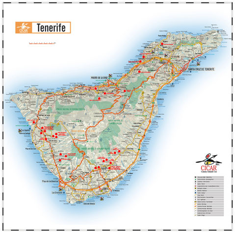 World Map For Kids Tenerife Tenerife Island Canary Islands Showing