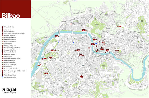 Bilbao Spain Map Tourist Tourist Map of Bilbao