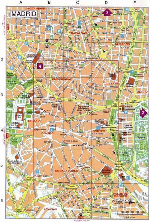 Madrid map