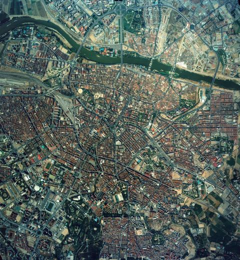 Aerial view of Zaragoza