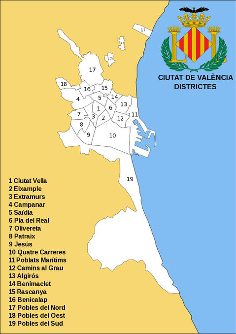 Districts of the city of Valencia 2008