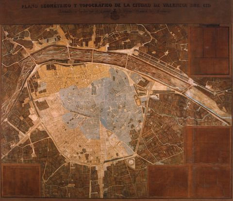 Geometric and topographic map of Valencia 1853