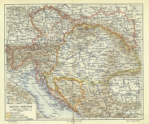Map of Austria-Hungary 1900-1907