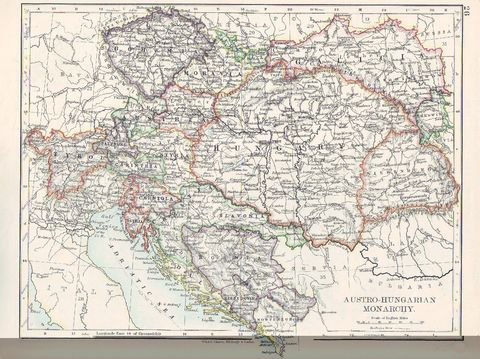 map of austria hungary 1900 1907 with The Austro Hungarian Empire In 1897 on The Austro Hungarian Empire In 1897 besides India Maps as well Austria Hungary Antique Map 1907 Dodd moreover File Yuzhakov Big Encyclopedia Map of Austria Hungary additionally Literacy Rate In Austria Hungary 1880.
