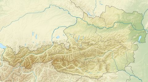 Relief map of Austria 2010