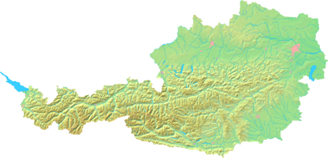 Topographic map of Austria 2008